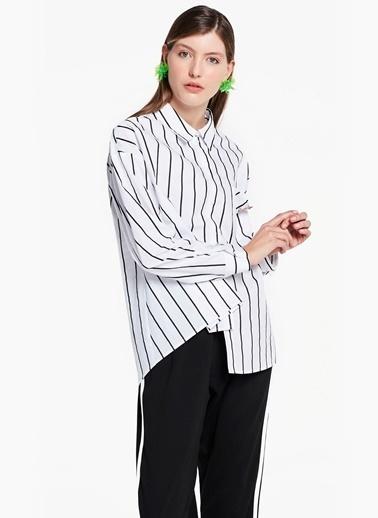 Çizgili Gömlek-Twist